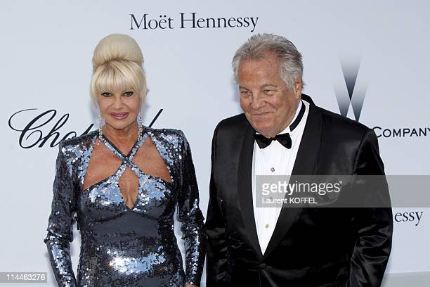 Ivana Trump and Massimo Gargia attend amfAR's Cinema Against AIDS Gala during the 64th Annual Cannes Film Festival at Hotel Du Cap on May 19 2011 in...