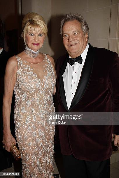 Ivana Trump and Massimo Gargia attend the Best Awards 2007 at the Bristol Hotel December 9 2007 in Paris France