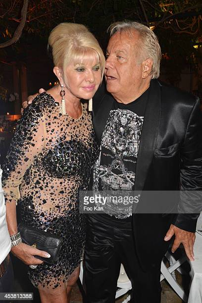 Ivana Trump and Massimo Gargia attend the Massimo Gargia Birthday Party at the VIP Room Saint Tropez on August 18 2014 in Saint Tropez France