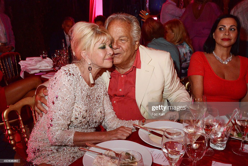Ivana Trump and Massimo Gargia attend the Monika Bacardi Summer Party 2014 St Tropez at Les Moulins de Ramatuelle on July 27, 2014 in Saint Tropez, France. (Photo by Foc Kan/WireImage)Ê