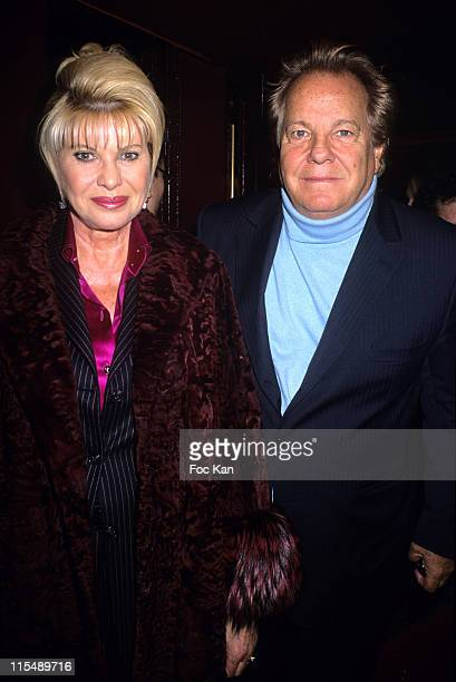 Ivana Trump and Massimo Gargia during Paris Fashion Week Haute Couture Spring/Summer 2007 Franck Sorbier Inside Arrivals at Theatre Palais Royal in...