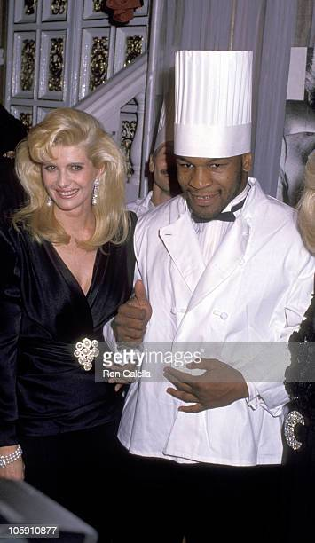 Ivana Trump and Mike Tyson during Annual March of Dimes Gourmet Gala at Plaza Hotel in New York City New York United States
