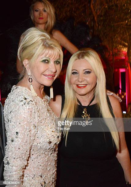 Ivana Trump and Monika Bacardi attend the Monika Bacardi Summer Party 2014 St Tropez at Les Moulins de Ramatuelle on July 27 2014 in Saint Tropez...