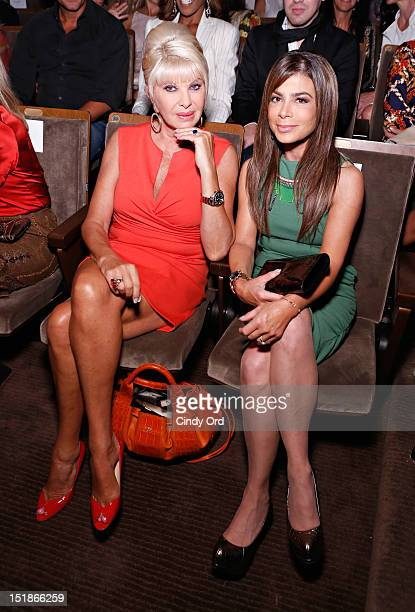 Ivana Trump and Paula Abdul attend the Douglas Hannant spring 2013 fashion show during MercedesBenz Fashion Week at the New York Historical Society...