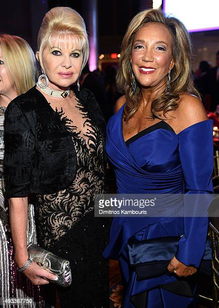 Ivana Trump and President CoFounder of Gabrielle's Angel Foundation Denise Rich attends Angel Ball 2015 hosted by Gabrielle's Angel Foundation at...