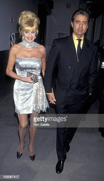 Ivana Trump and Roffredo Gaetani during 1st Annual Ovarian Cancer Research Fund Benefit at Pier 59 Studios in New York City, New York, United States.