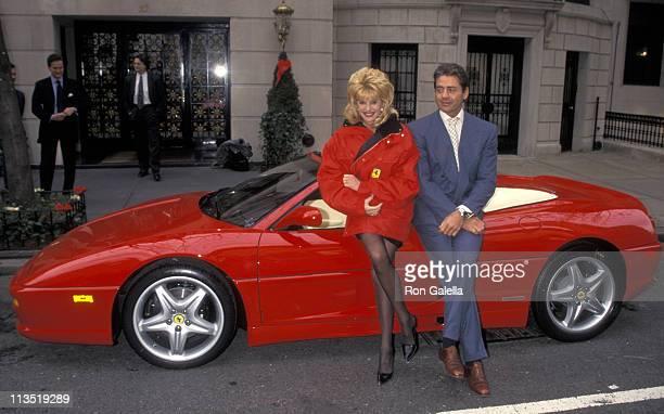 Ivana Trump and Roffredo Gaetani during Ivana Trump Receives Her Customized Ferrari 355 Spider at Ivana Trump's New York City Home in New York City,...