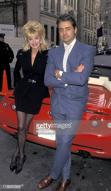 Ivana Trump and Roffredo Gaetani during Ivana Trump Receives Her Customized Ferrari 355 Spider at Ivana Trump's New York City Home in New York City...