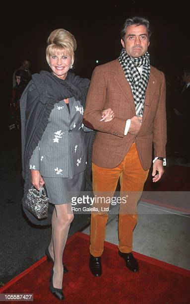"""Ivana Trump and Roffredo Gaetani during New York Screening of """"Little Voice"""" at Paris Theater in New York City, New York, United States."""