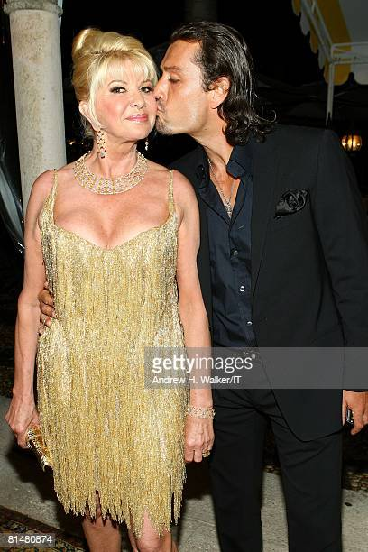 Ivana Trump and Rossano Rubicondi attend the Drinks Dinner and Disco Party the night before the wedding of Ivana Trump and Rossano Rubicondi at the...