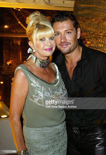 Ivana Trump and Rossano Rubicondi during 2004 Cannes Film Festival Ivana Trump Party at Baoli in Cannes France