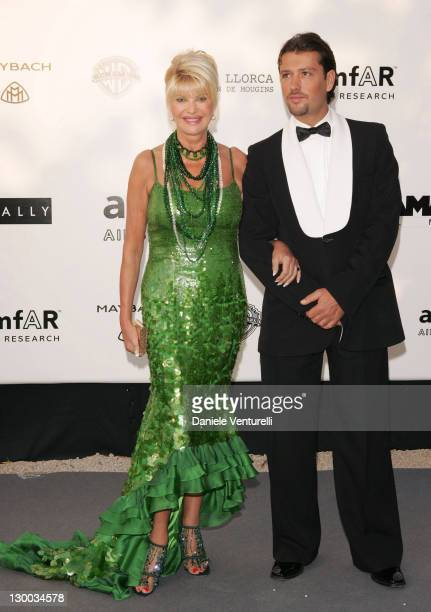"""Ivana Trump and Rossano Rubicondi during amfAR's """"Cinema Against AIDS Cannes"""" Benefit Sponsored by Miramax and Quintessentially - Arrivals at Moulin..."""