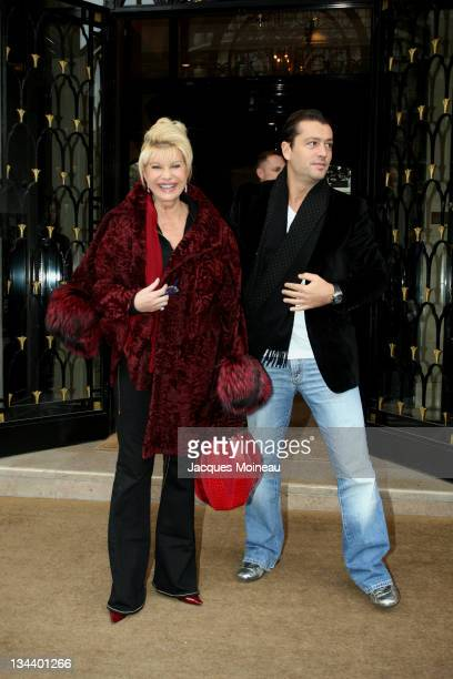 Ivana Trump and Rossano Rubicondi during Celebrity Sightings in Paris after Haute Couture Fashion Shows January 25 2007 at Hotel George V of Paris in...