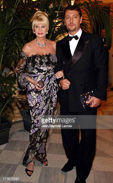 Ivana Trump and Rossano Rubicondi during Gala Dinner for 'The Best' Award Arrivals at The Royal Monceau Hotel in Paris France