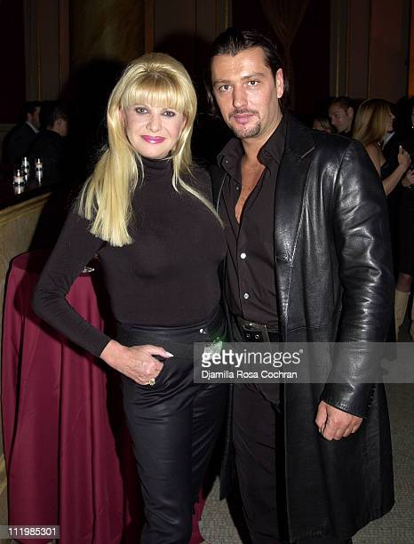 Ivana Trump and Rossano Rubicondi during Jason Binn and Haley Lieberman's Engagement Party in New York City at Capitale in New York City New York...