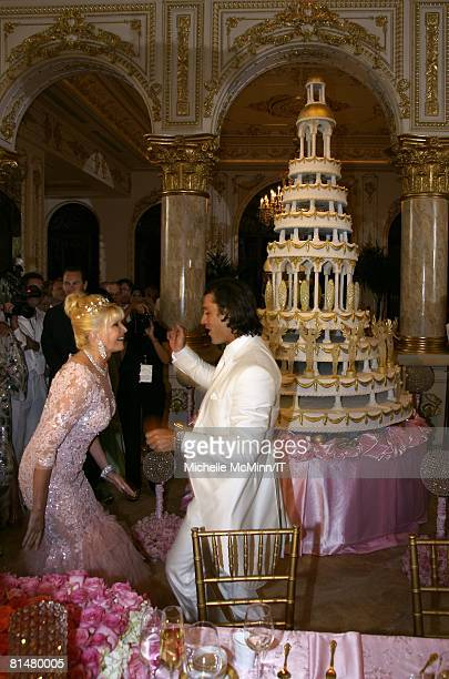 RATES Ivana Trump and Rossano Rubicondi during their wedding reception at the MaraLago Club on April 12 2008 in Palm Beach Florida Ivana Trumps...