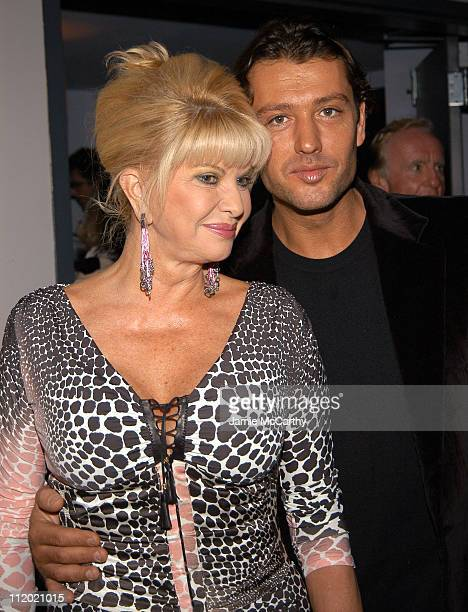 Ivana Trump and Rossano Rubicondi during YSL and Jude Law Host a Grand Classics Evening in Honor of Cinema and Alfie at Soho House in New York City...