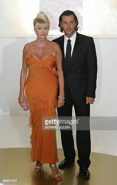 Ivana Trump and Rossona Rubicondion arrive 05 August 2005 for the dinner at the annual Red Cross Ball or Bal de la CroixRouge at the MonteCarlo...
