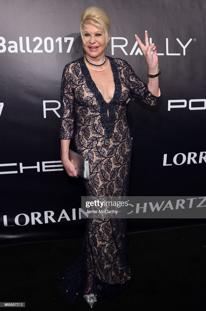 Ivana Trump arrives at Gabrielle's Angel Foundation's Angel Ball 2017 at Cipriani Wall Street on October 23, 2017 in New York City.