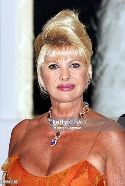 Ivana Trump arrives at the 57th Red Cross Ball on August 5 2005 in Monte Carlo Monaco