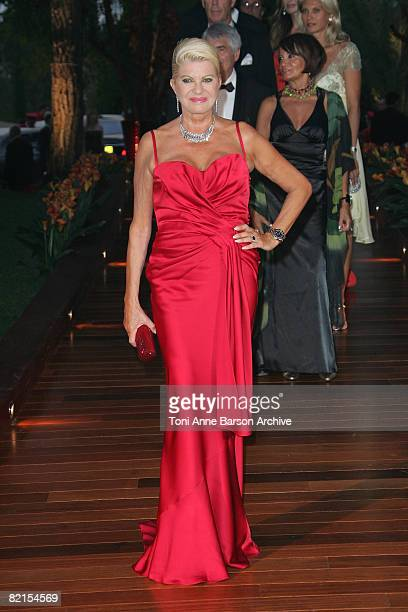 Ivana Trump arrives at the 60th Monaco Red Cross Ball at the Monte-Carlo Sporting Club on August 1, 2008 in Monte Carlo, Monaco.