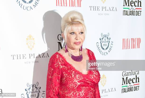 Ivana Trump attends a press conference announcing her new campaign to fight obesity at The Plaza Hotel on June 13 2018 in New York City