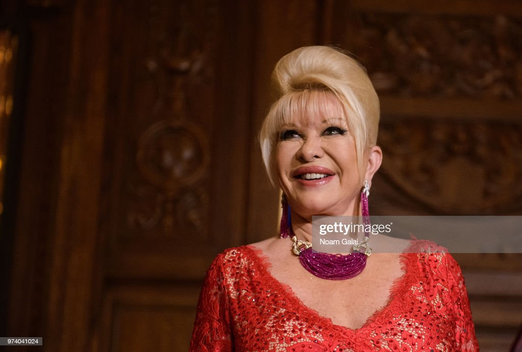 Ivana Trump attends a press conference announcing her new campaign to fight obesity at The Plaza Hotel on June 13, 2018 in New York City.