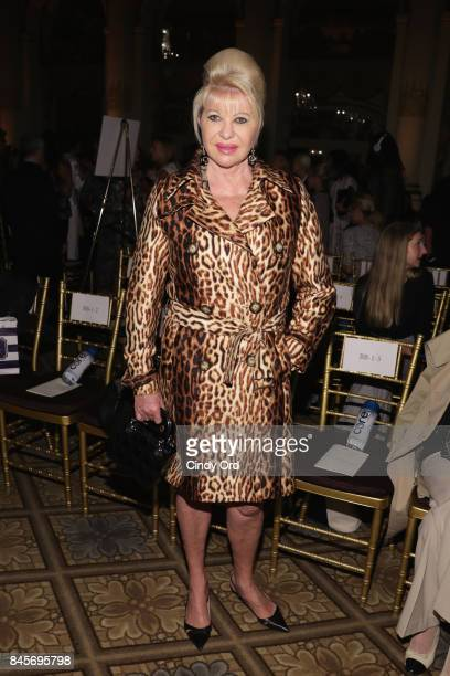 Ivana Trump attends Dennis Basso fashion show during New York Fashion Week The Shows at The Plaza Hotel on September 11 2017 in New York City