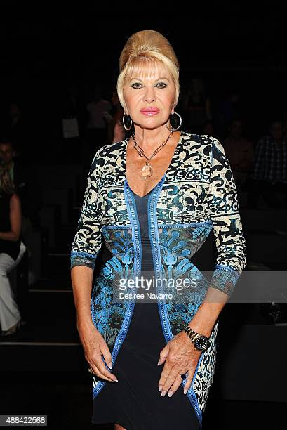 Ivana Trump attends Dennis Basso Front Row Backstage Spring 2016 New York Fashion Week The Shows at The Arc Skylight at Moynihan Station on September...