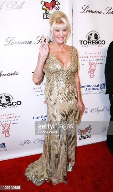 Ivana Trump attends the 2010 Angel Ball to Benefit Gabrielle's Angel Foundation at Cipriani Wall Street on October 21 2010 in New York City