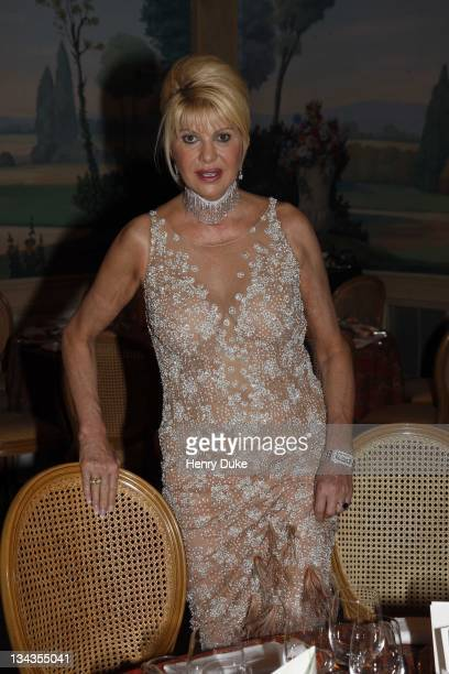 Ivana Trump attends the Best Awards 2007 at the Bristol Hotel December 9 2007 in Paris France