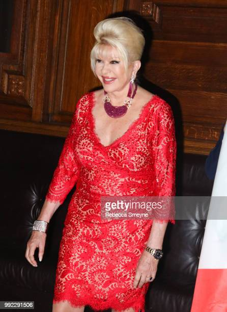 Ivana Trump attends the book launch and reception for Ivana Trump and Gianluca Mech's 'The Italiano Diet' at The Oak Room at the Plaza on June 13...