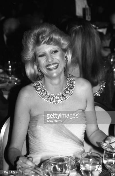 Ivana Trump attends the Boys Town of Italy Ball at the WaldorfAstoria Hotel in April 1984 in New York New York