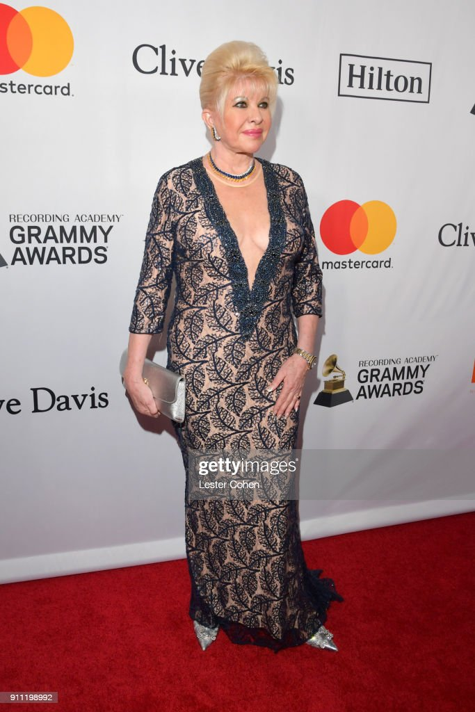 Ivana Trump attends the Clive Davis and Recording Academy Pre-GRAMMY Gala and GRAMMY Salute to Industry Icons Honoring Jay-Z on January 27, 2018 in New York City.