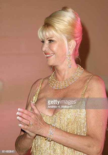 Ivana Trump attends the Drinks Dinner and Disco Party the night before her wedding to Rossano Rubicondi at the MaraLago Club on April 11 2008 in Palm...