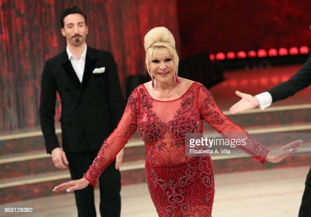 Ivana Trump attends the Italian TV show 'Ballando Con Le Stelle' at RAI Auditorium on May 5 2018 in Rome Italy