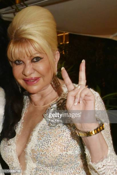 Ivana Trump attends the Massimo Birthday Party On French Riviera on August 19 2018 in SaintTropez France