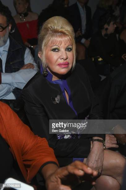 Ivana Trump attends the Zang Toi fashion show during New York Fashion Week The Shows at Gallery 3 Skylight Clarkson Sq on September 13 2017 in New...
