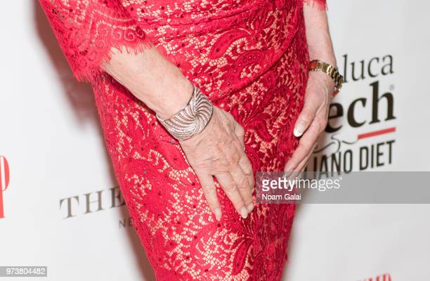 Ivana Trump bracelet detail attends a press conference announcing her new campaign to fight obesity at The Plaza Hotel on June 13 2018 in New York...