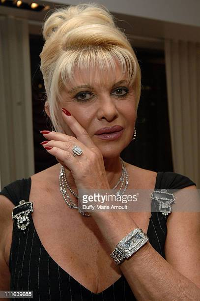 Ivana Trump celebrates her engagement at Italian singer Nicola Congiu's private performance at 500 Park Avenue on October 15 2007 in New York City
