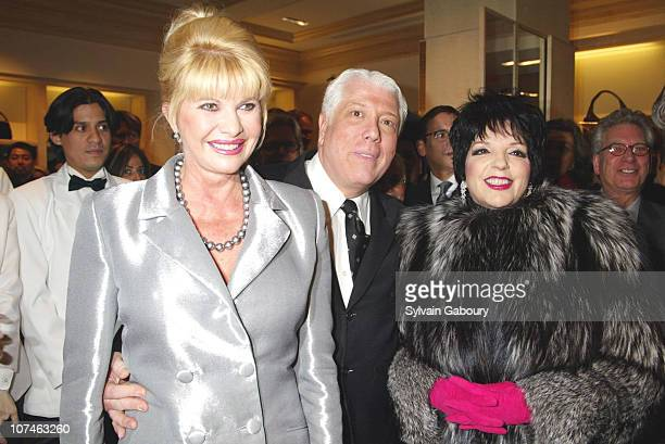 Ivana Trump Dennis Basso Liza Minnelli during Grand Opening Dennis Basso Store at Dennis Basso Flagship Store in New York New York United States