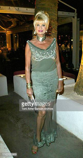 Ivana Trump during 2004 Cannes Film Festival Ivana Trump Party at Baoli in Cannes France