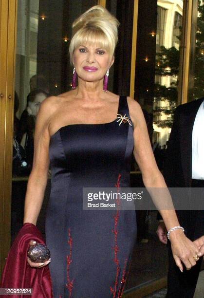 Ivana Trump during American Ballet Theatre 2004 Spring Gala at Metropolitan Opera House Lincoln Center in New York City New York United States
