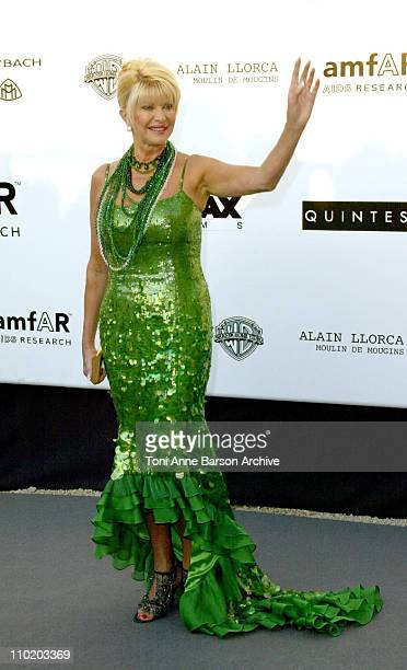 """Ivana Trump during amfAR's """"Cinema Against AIDS Cannes"""" Benefit Sponsored by Miramax and Quintessentially - Arrivals at Moulin De Mougins in Cannes,..."""