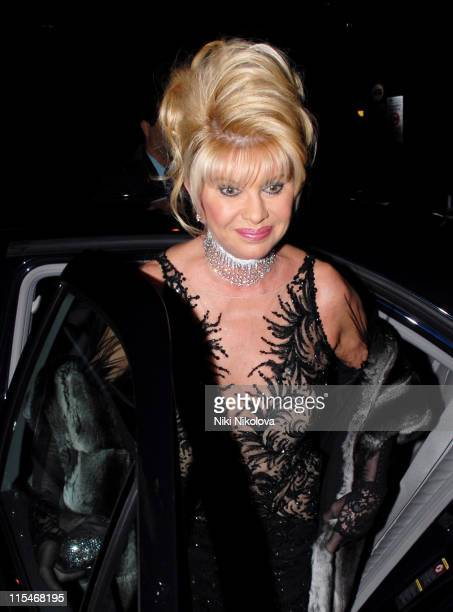 Ivana Trump during Andy Patti Wong's Chinese New Year Party January 27 2007 at Madamme Tussauds in London Great Britain