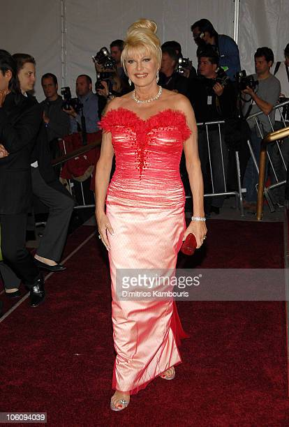 """Ivana Trump during """"AngloMania"""" Costume Institute Gala at The Metropolitan Museum of Art - Arrivals. Celebrating """"AngloMania: Tradition and..."""