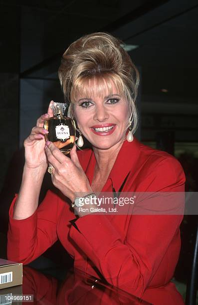 Ivana Trump during Party For Ivana Trump Hosted By Nikki Haskell at Spago's in West Hollywood California United States