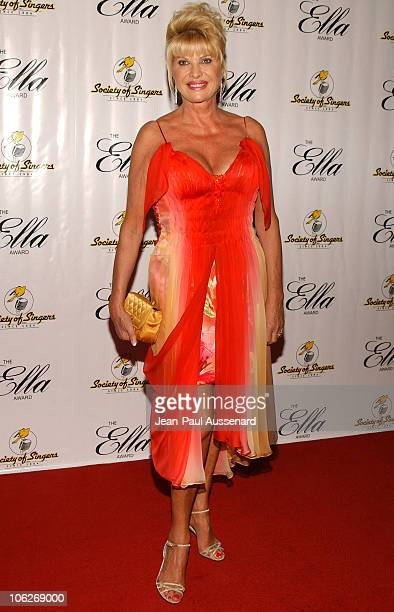 Ivana Trump during Society of Singers 14th Annual Awards Honoring Sir Elton John at Beverly Hilton Hotel in Beverly Hills, California, United States.