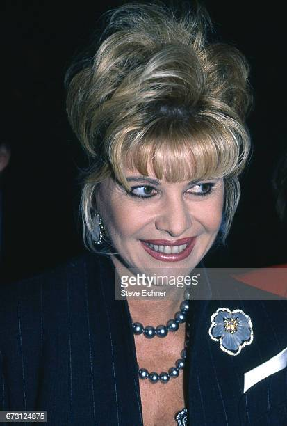 Ivana Trump during the Bill Blass Spring Fashion Show 7th on 6th at Bryant Park New York New York October 31 1996
