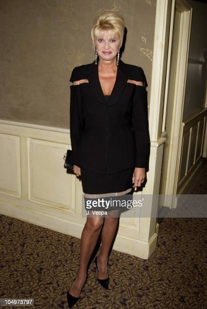 Ivana Trump during The Hampton Sheet Cocktail Party at Lutece at Lutece in New York City New York United States